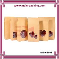 Wholesale Side gusset kraft paper bag for food packaging/rown kraft paper bag with window ME-KB001 from china suppliers