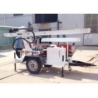 Wholesale Trailer Mounted Hydraulic Water Well Drilling Rig 2 Wheel For DTH Air / Mud Pump Drilling from china suppliers
