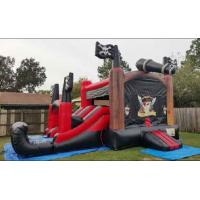Wholesale Customized Double Lane Pirate Inflatable Slide Jumping Bouncer Slide Combo from china suppliers