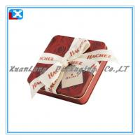 Wholesale High quality square chocolate gift tin box from china suppliers