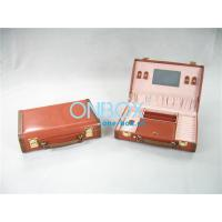 Wholesale Handicraft Luxury Cosmetic Box /  Multi Color Leather Makeup Case With Mirror from china suppliers