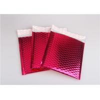 Rose Pink Metallic Mailing Envelopes , Colored Bubble Mailers For Transport