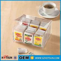 Wholesale First class decor custom design tabletop clear acrylic tea box from china suppliers