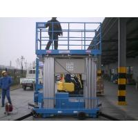 Wholesale 12 Meter Blue Mobile Elevated Working Platforms , Four Mast Electric Ladder Lift from china suppliers