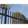 Black Spear Top Industrial Garrison Security Fencing Panels / Perth Garrison Security Fencing Panels for sale