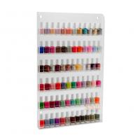 Wholesale Custom Clear Acrylic Nail Polish Wall Rack Display Storage Shelf 6 Tiers from china suppliers