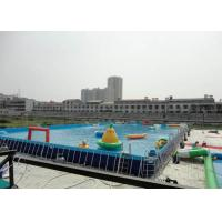 Wholesale Big Water Park Rectangle Above Ground Metal Frame Paddling Pool 12 x 39 from china suppliers