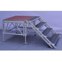 Wholesale Anti - Slip Square Aluminum Folding Stage , Smart Mobile Outdoor Stage Platform from china suppliers