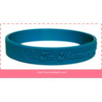 China embossed silicone wristband bracelet without color filling for sale