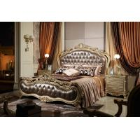 Wholesale Classic hotel first lady room Bed furniture true leather upholstered Headboard Joyful Ever from china suppliers