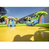 Wholesale Outdoor Funny Inflatable maga jungle Water Park Bouncer Slide with water pool For Sale from china suppliers