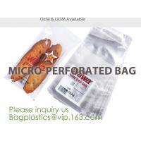 China Microperforation blocked bags,microperforated bag for fruit and vegetable,Microperforation triangle bopp sandwich packag on sale