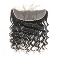 Wholesale Natural Color Ear To Ear Frontal Closure 10 Inch Double Weft No Synthetic Hair from china suppliers