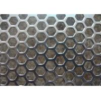 Wholesale Galvanized Perforated Metal Mesh Hexagonal / Round Hole 3mm - 200mm Aperture from china suppliers
