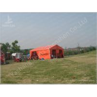 China Flame Retardant Orange Fabric Covered Structures Commercial Event Tents on sale