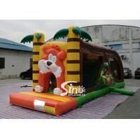 Cartoon kids Bouncy Castle Inflatable jump house with slide For kids Inflatable Game for sale