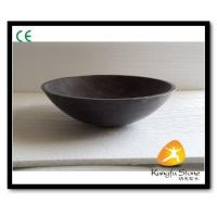 Xiamen Kungfu Stone Ltd supply Round Blue Limestone Sink For Indoor Kitchen,Bathroom for sale