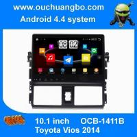 China Ouchuangbo car dvd gps stereo system for Toyota Vios 2014 with android 4.4 big screen 3g wifi usb on sale