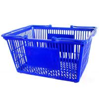 China Light Weight Small Plastic Shopping Baskets With Handles 3 Years Warranty on sale