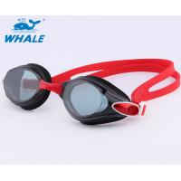 Wholesale Red Adult Silicone Swimming Goggles Fast Adjust Strap System Three Size Nose Piece from china suppliers