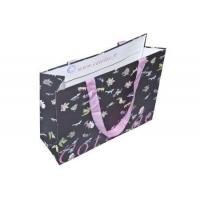 Grocery Advertising Carrier Paper Bags For Clothing With Silk Ribon Handles for sale