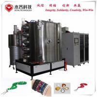 Wholesale Crystal Glass Vacuum Plating Machine / Glass Bracelet Decorative PVD Coating Equipment from china suppliers
