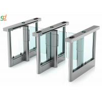 Wholesale Stainless Steel Automatic Turnstiles Swing Doors , Wing Style Optical Turnstile Barrier from china suppliers