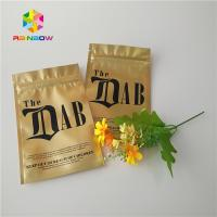 China Gold Royal Kratom Bali Foil Ziplock Packing Bags , Stand Up Pouch Bags For Spices Powder for sale