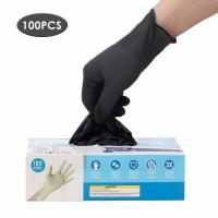 Wholesale Latex Free Disposable Medical Gloves Anti Allergic High Wear Resistant Black Color from china suppliers