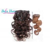 Wholesale Clip In Body Wave / Straight Unprocessed Brazilian Human Hair For Black Women from china suppliers