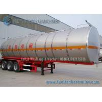 Wholesale SUS304 2B Chemical Oil Tank Trailer 3 Axle 39000 L Milk Tanker Trailer from china suppliers