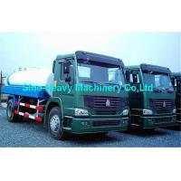 Wholesale 380HP 4X2 Oil Tanker Trailer in Red , 15000L Fuel Tanker Truck EURO II from china suppliers