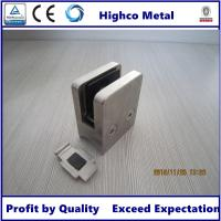 Buy cheap Stainless Steel Square Glass Clamp 70x55mm with Round Back Fit 10-15mm Glass for from wholesalers