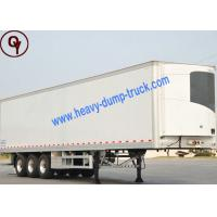 China Container Flatbed Box Semi Trailer Truck , 30 - 60 Tons 13M Semi Box Trailer on sale