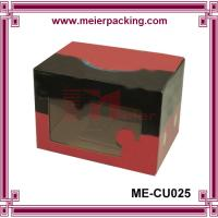 Quality Customized Printed Corrugated Paper Box, Shoe Paper Box with PVC Window ME-CU025 for sale