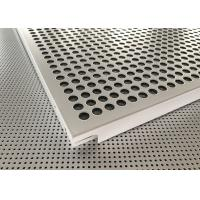 Buy cheap Architectural Extrusions Lay In Ceiling Tiles 595 X 595mm Pure White Coated from Wholesalers
