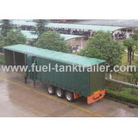Wholesale Leaf Spring Curtain Side Trailer , PVC Cover Soft Side Semi Trailer Submerged ARC Welding from china suppliers