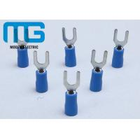 Wholesale SV 1.25-4 blue insulator copper Insulated Wire Terminals spade female wire terminals from china suppliers