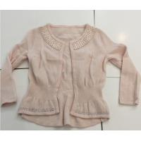 Wholesale Hot Fix Rhinestones Kids Knitted Sweater Cardigan Long Sleeve For Girls from china suppliers