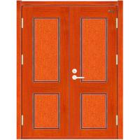 China Double Leaves Wooden Fire rated Door on sale