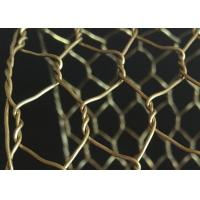 Wholesale Rugged Decorative Concertina Hexagonal Wire Mesh Cooper Brass Twist Anti Oxidation from china suppliers