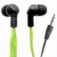 Wholesale Waterproof Earphones for iPod/MP3/iPad/iPhone, w/ Cloth Cable, Convenient for Swimming/Rainy Weather from china suppliers