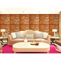 Wholesale Real Leather 3D Living Room Wallpaper Royal Luxurious Wall Decal PU leather Panels from china suppliers