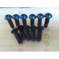 Wholesale GR5 Ti6AL4V M10*30mm titanium taper head bolt with torx bule colour from china suppliers