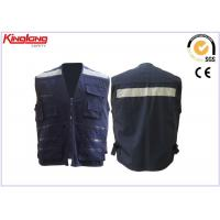 Wholesale Unisex heavy duty worker Reflective Safety Vest with 5 cm reflective tapes from china suppliers