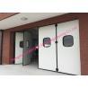 Aluminum Seal Accordion Doors Multi Panels Hinged Industrial Garage Doors Folding For Warehouse for sale
