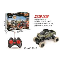 China Wholesale RC off road vehicle climb toy car crawler olive color plastic RC crawler car for kids fun favorite 666-251B on sale