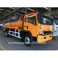 Wholesale Sinotruk 4x2 8000 Liters Yellow Color Sewage Suction Truck Italy Brand Vacuum Pump from china suppliers