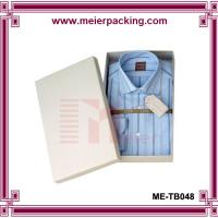 Wholesale White matte varnishing t-shirt/clothings/apparel paper packaging box, T'shirt paper gift box  ME-TB048 from china suppliers