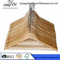 Wholesale top grade natural wooden hanger hotel hanger from china suppliers